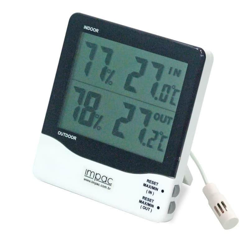 Termo-higrômetro Digital Sensor Externo e Interno TH-03B