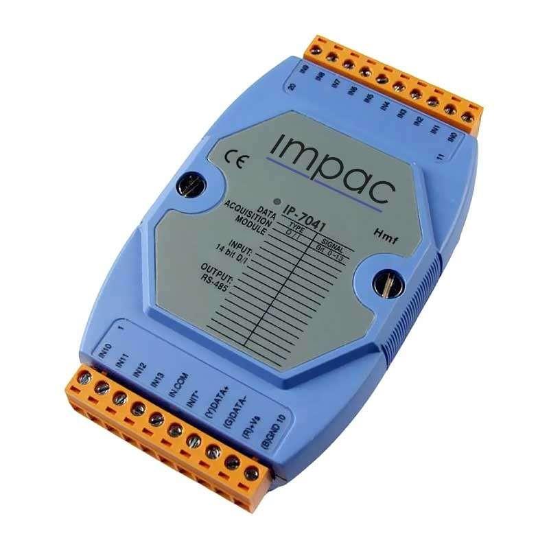 Módulo Entrada Digital Isolada 14 entradas Saída RS-485 IP-7041