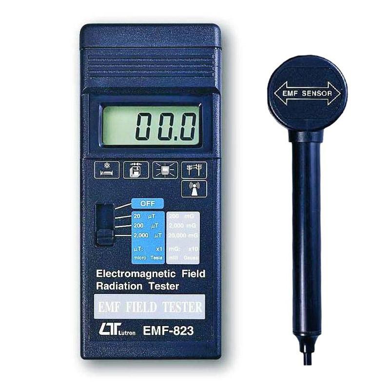 Medidor de Radiação de Campo Eletromagnético EMF-823