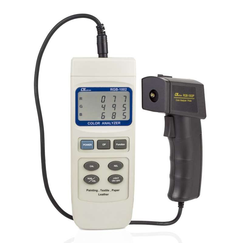 Medidor de Cor RGB-1002 Analisador Lutron Tecido, Plástico e Embalagem